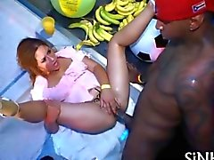 blowjob hardcore interracial party club