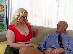 bbw big boobs big cocks blondine blowjob