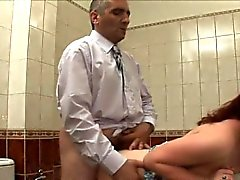 blowjob doggystyle redhead russian shower