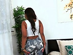 Curvy ebony beauty railed hard