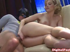 blonde blowjob facial hairy