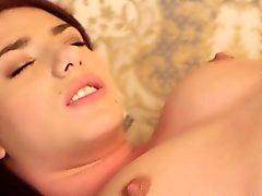 babe brunette european masturbation solo