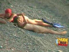 nude beach babe