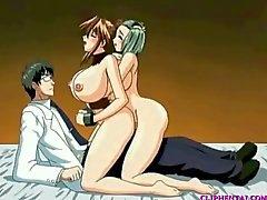 anime cartoon threesome