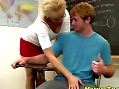 granny handjob teacher