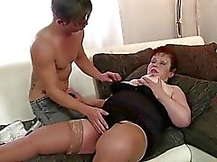 aged bbw blowjob cock sucking