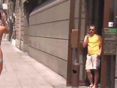 public outside bodypaint exhibitionist