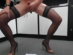 wanking and jerking in stockings and High Heels