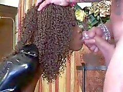 anaal zwart en ebony gezichtsbehandelingen latex