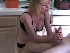 amateur blonde handjob