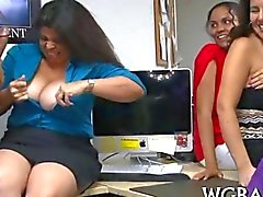 amateur blowjob party public