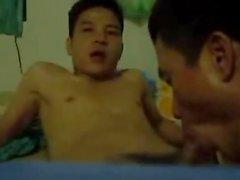gay gay couple oral sex asian blowjob