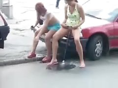 public nudity pussy european pissing