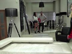 Sexy Anissa and Vyvan manhandled Vinnys big cock