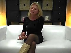 big boobs blonde blowjob casting