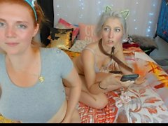 Girl Party: Part 2. Lactating Tits Spraying Milk on Pussy