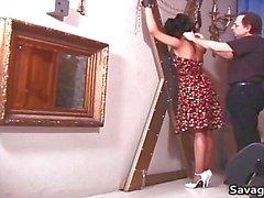 bdsm slavernij brunette fetisch huisvrouw