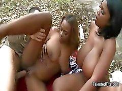 3some big tits cumshot