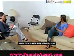 amateur audition brunette