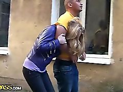 anal blondine blowjob bukkake