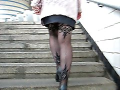 upskirts stockings flashing