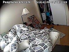 masturbate voyeur hidden peepholecam bed