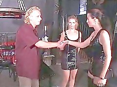 femdom threesome whipping mistress