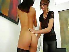 all holes babe brunette dildo lesbian