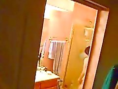 My Mother unware of my hidden bathroom cam