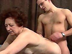 blowjob granny hardcore lingerie redhead