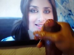 Kareena Kapoor Cum Tribute #5 With Oiled Dick & Sex Toy