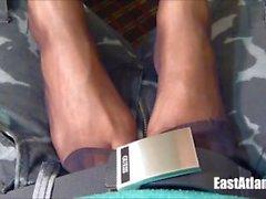kink ebony-feet ebony-footjob pantyhose-footjob