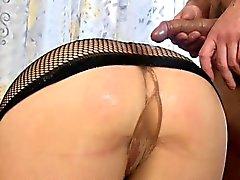 blowjob brunette fetish hd nylon