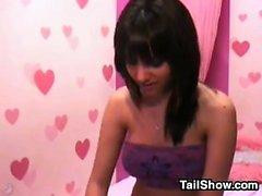 amateur brunette softcore solo striptease