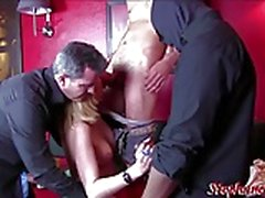 Karima beurette cougar fucked by three guys