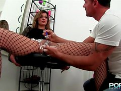 extreme fishnet fist fuck sex