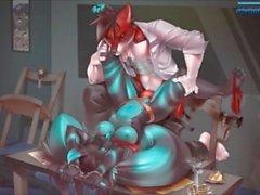 Bad Dog Punishes Bad Cat Furry Flash Game
