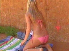 beach dildo outdoor