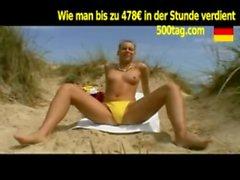 Strand Spa&szlig_ mit Dildo - 500tag