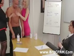 bdsm european handjob clothed fetish