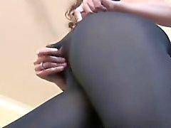 fetish masturbation nylon softcore solo