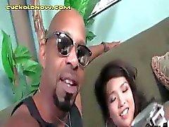 asiatisk svart avsugning brunett hanrej