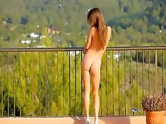 brunette cute outdoor shaved skinny
