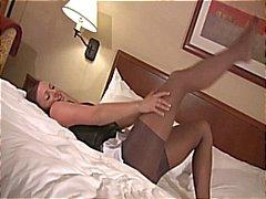 brunette fetisch panty nylon