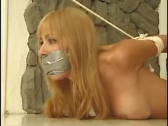 bdsm naked gagged bound