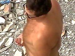 гей любительский пляж