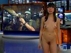naked-news news brunette striptease for women