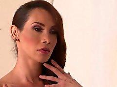 Busty latina tgirls assfucking in threesome
