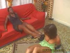 girl-on-girl kink facesitting brazilian foot-smother
