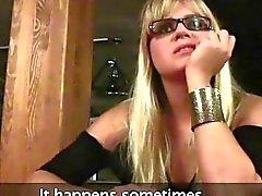 amateur blonde blowjob cumshot